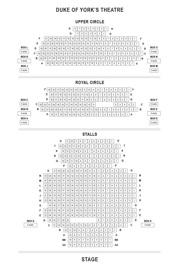 Duke of York's Theatre Seating Plan
