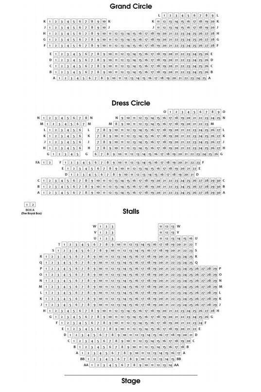 Savoy Theatre Seating Plan
