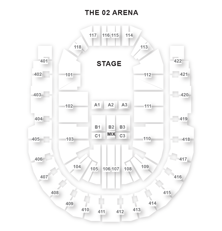 The O2 Arena Seating Plan