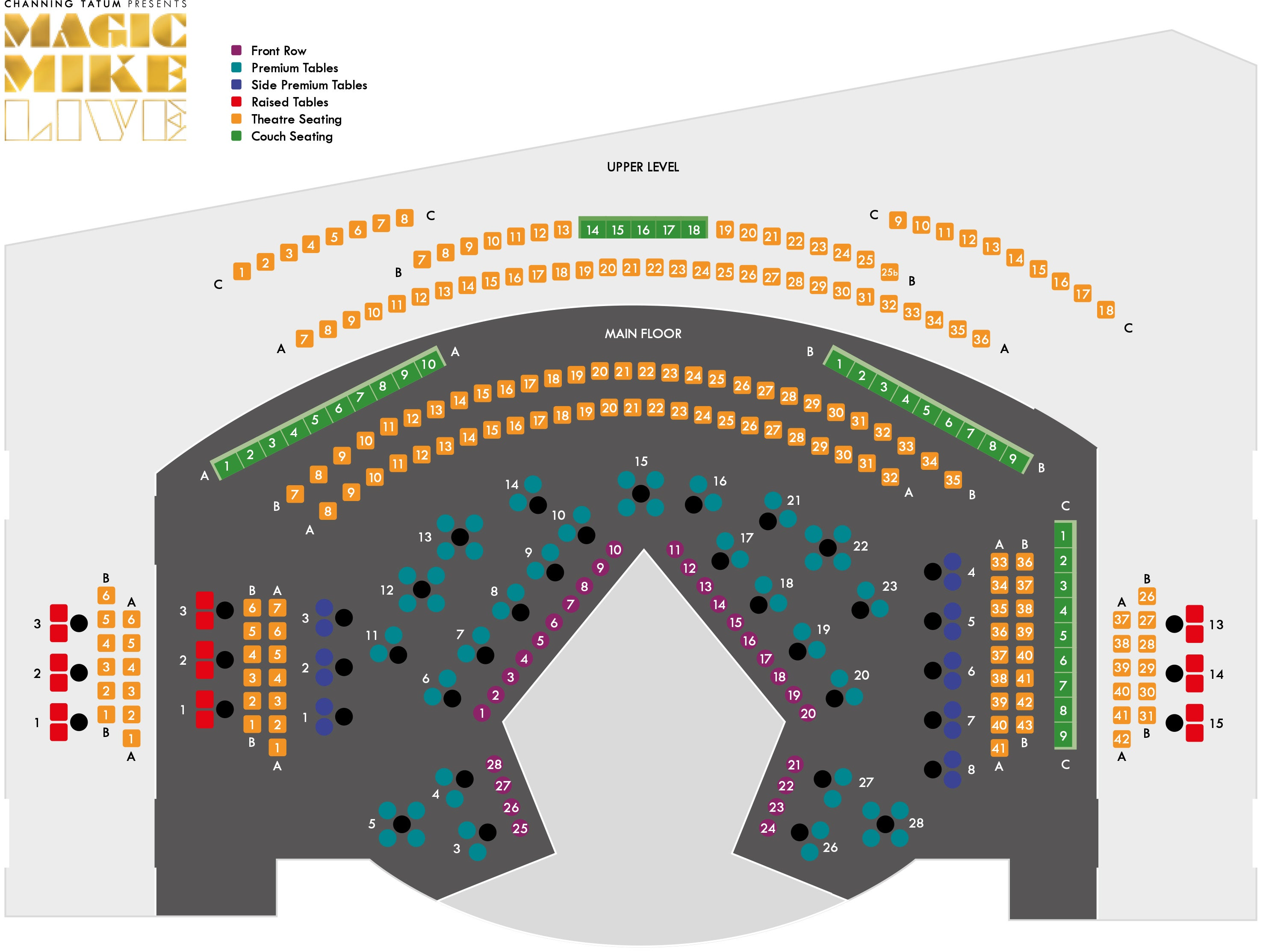 The Theatre at Hippodrome Casino (Over 18s Only) Seating Plan