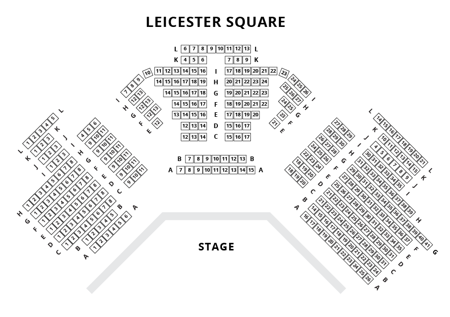 Leicester Square Theatre Seating Plan