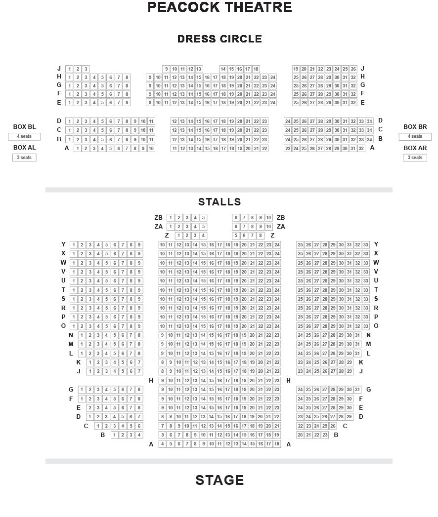 Peacock Theatre Seating Plan