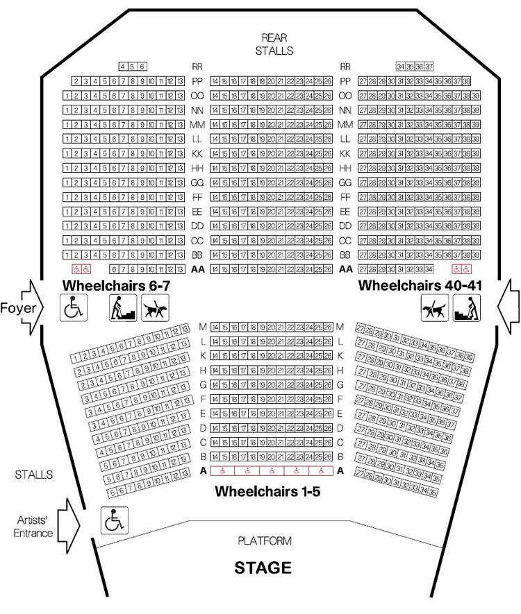 Queen Elizabeth Hall Seating Plan