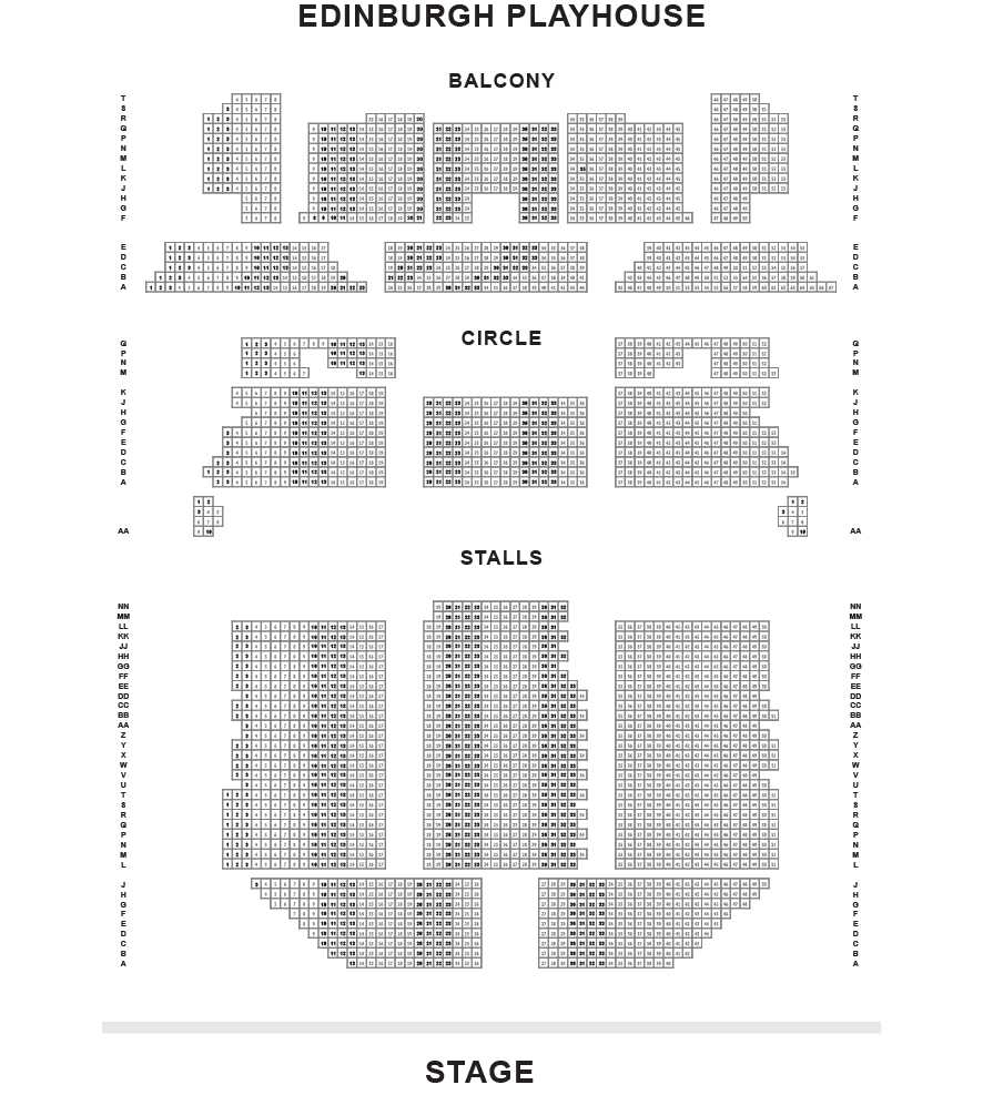 Edinburgh Playhouse Seating Plan