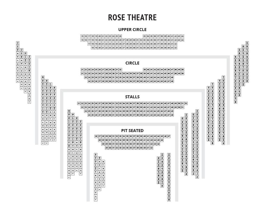 Rose Theatre Kingston Seating Plan