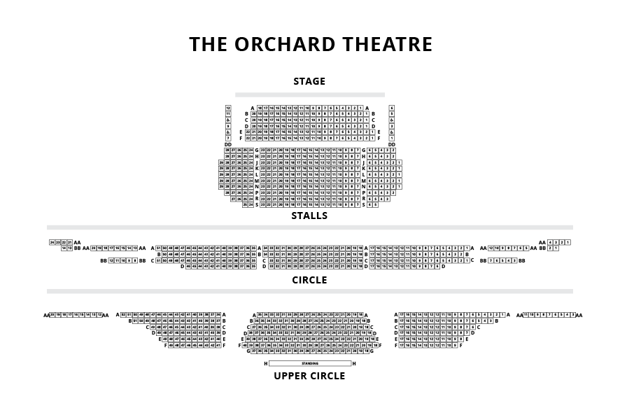 The Orchard Theatre Seating Plan