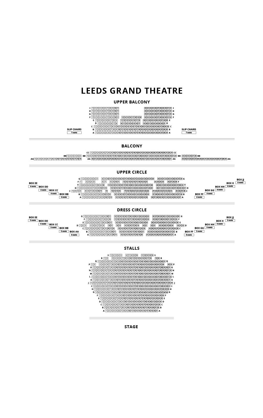 Leeds Grand Theatre Seating Plan
