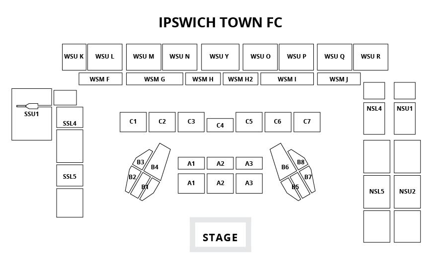 Ipswich Town FC Seating Plan