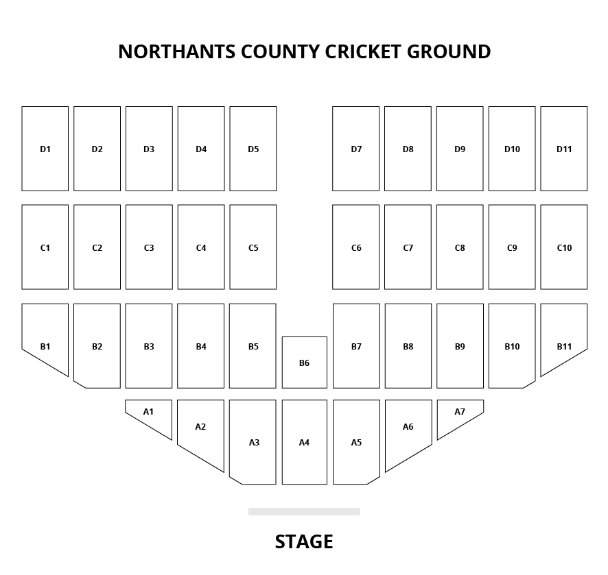 Northants County Cricket Ground Seating Plan