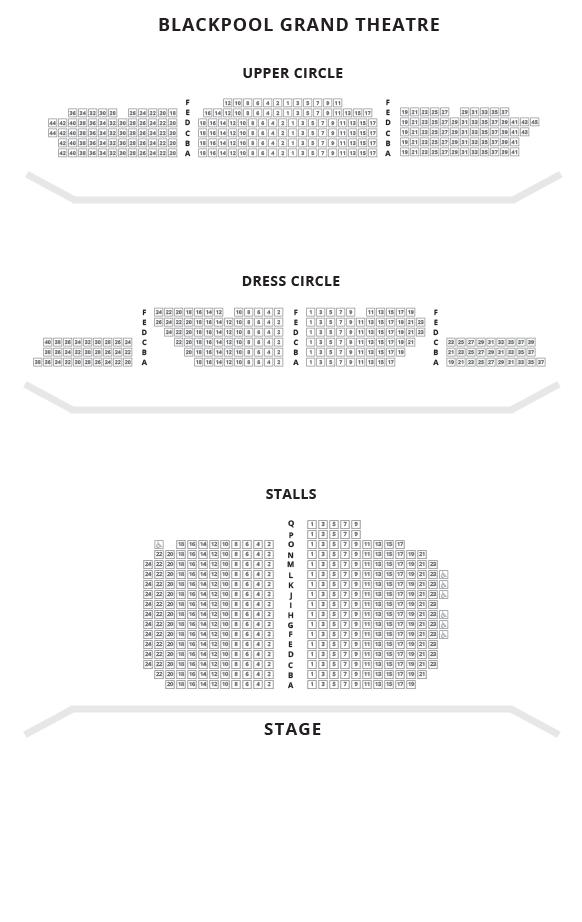 Blackpool Grand Theatre Seating Plan