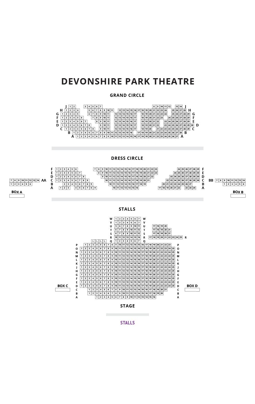 Devonshire Park Theatre Seating Plan