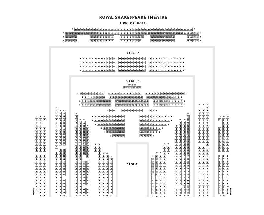 Royal Shakespeare Theatre Seating Plan