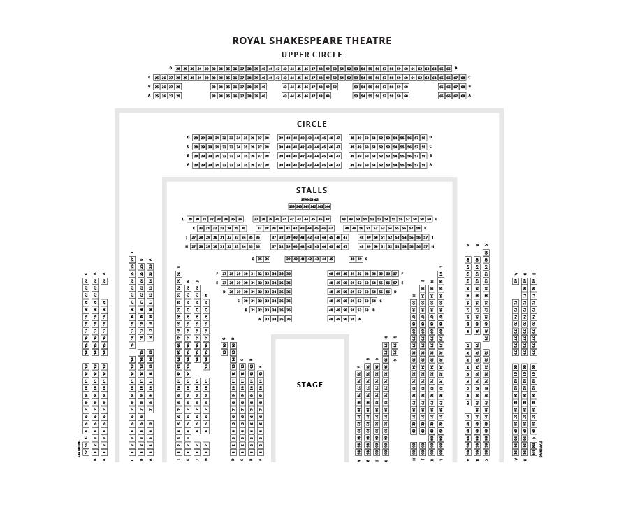 Royal Shakespeare Theatre Seating Plan