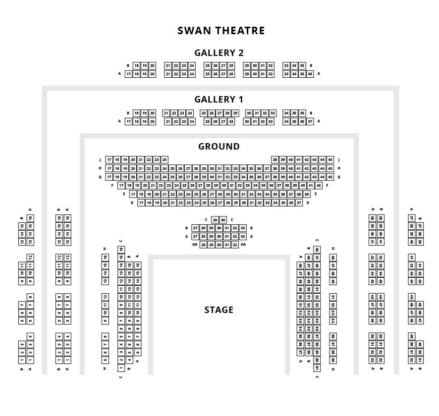 Swan Theatre Seating Plan
