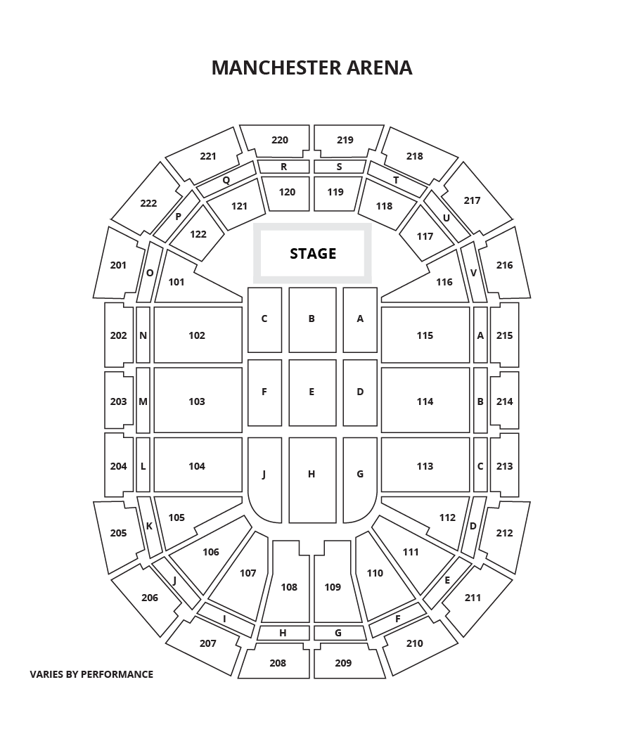 AO Arena Manchester Seating Plan