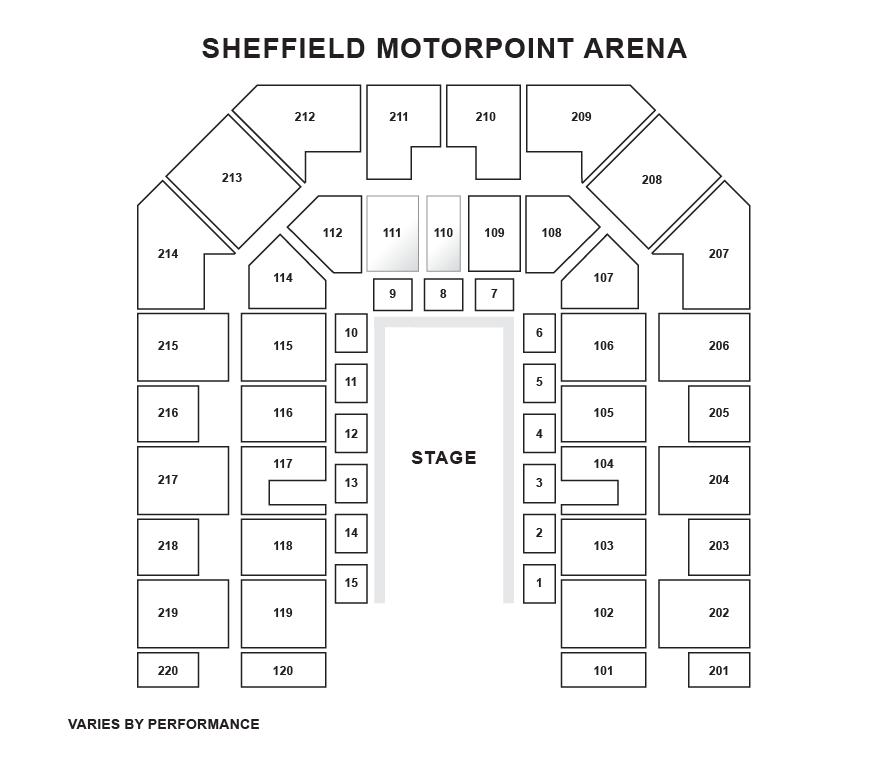 DSA Sheffield Arena Seating Plan