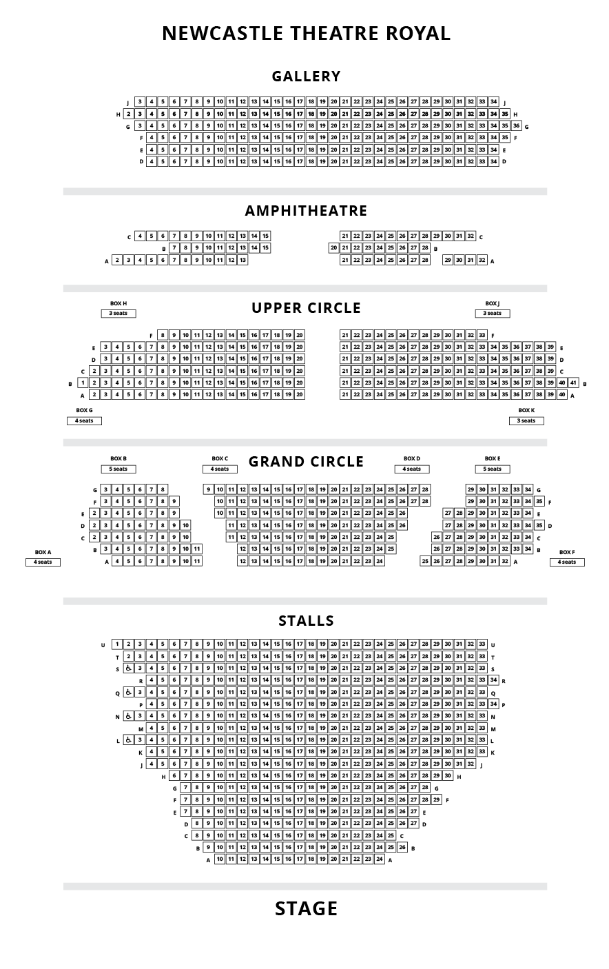 Theatre Royal Newcastle Seating Plan