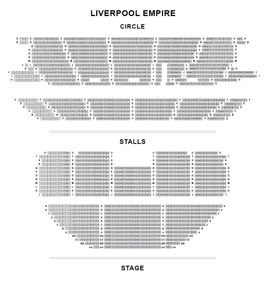 Liverpool Empire Seating Plan