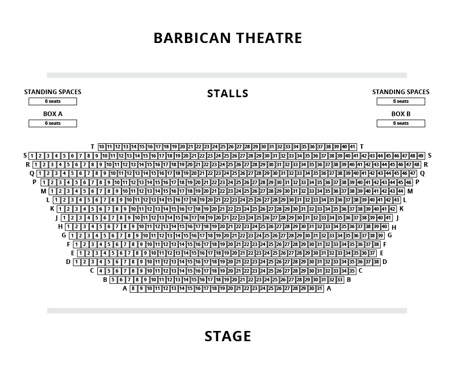 Barbican Seating Plan