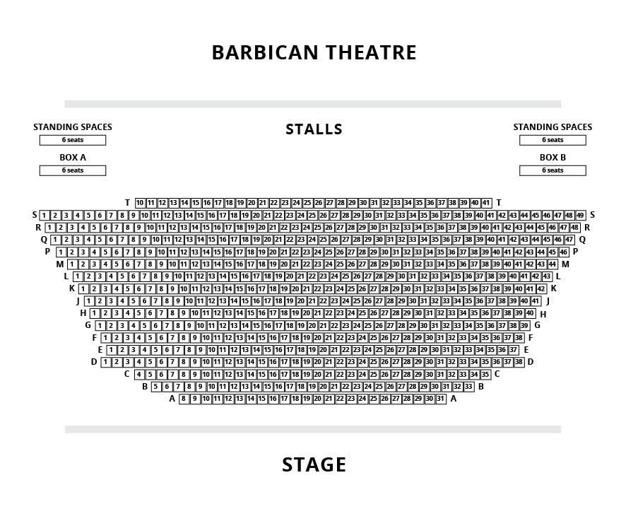 Barbican Seating Plan