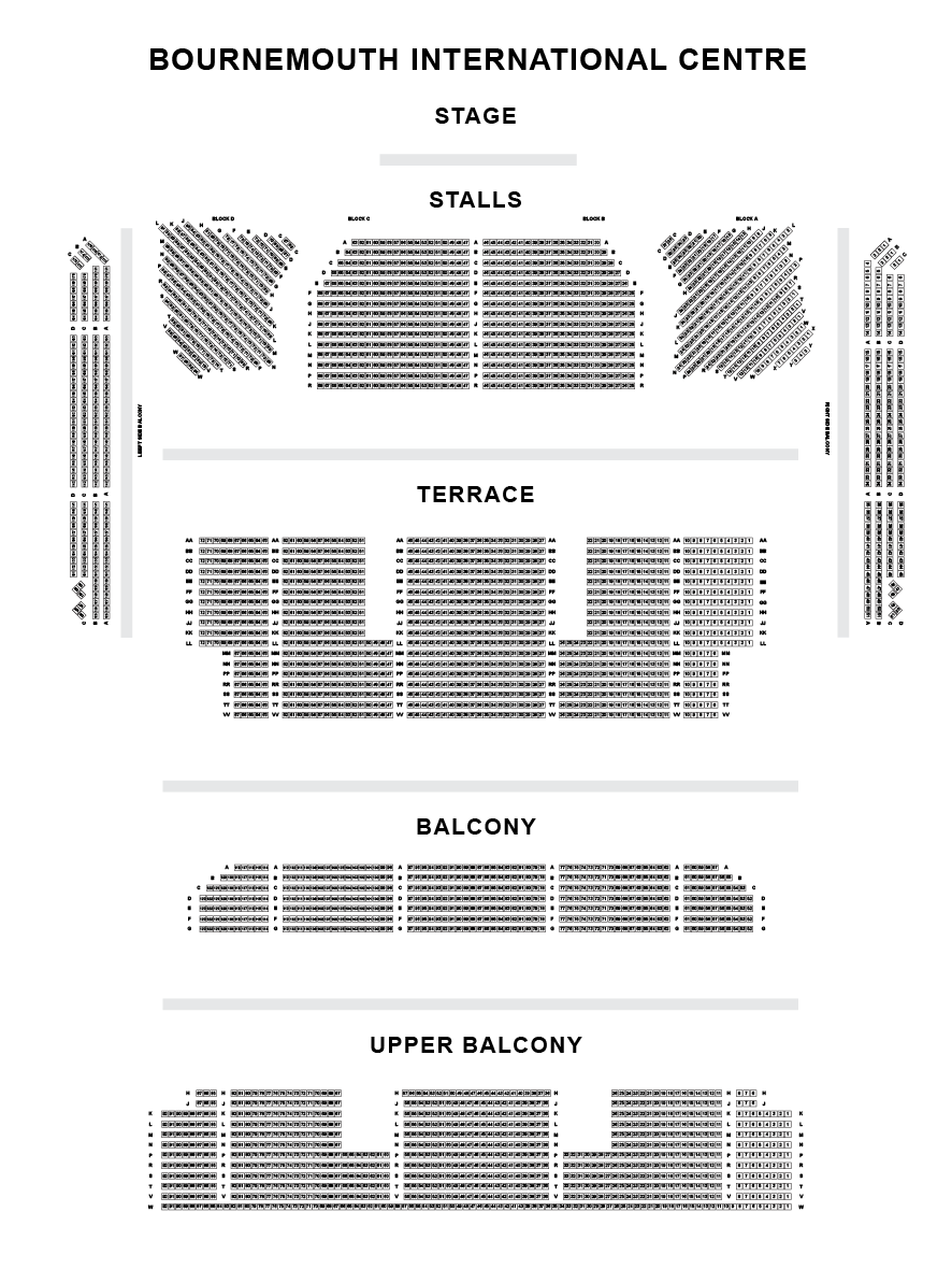 The Windsor Hall, Bournemouth International Centre Seating Plan