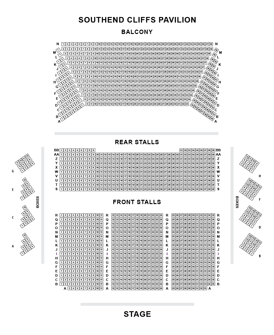 Cliffs Pavilion Seating Plan