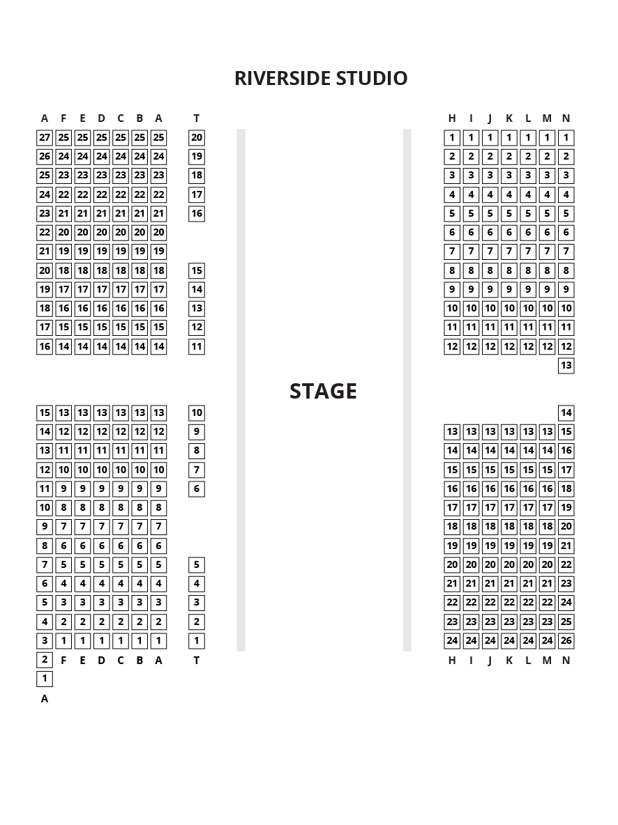 Riverside Studios - Studio 2 Seating Plan