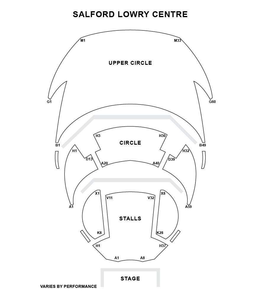 Salford Lowry Centre Seating Plan
