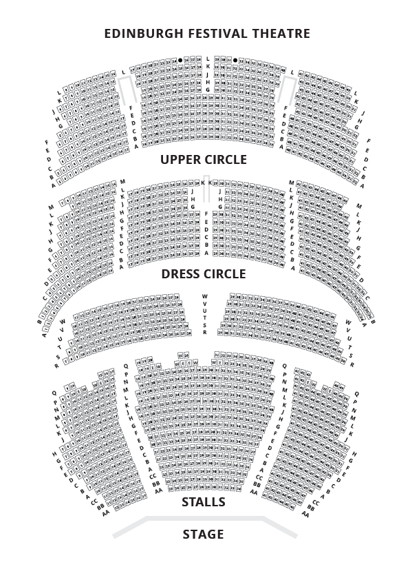 Edinburgh Festival Theatre Seating Plan