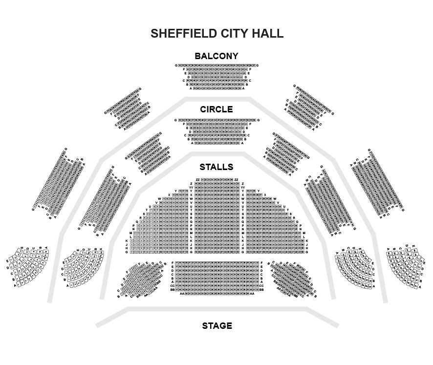 Sheffield City Hall Seating Plan