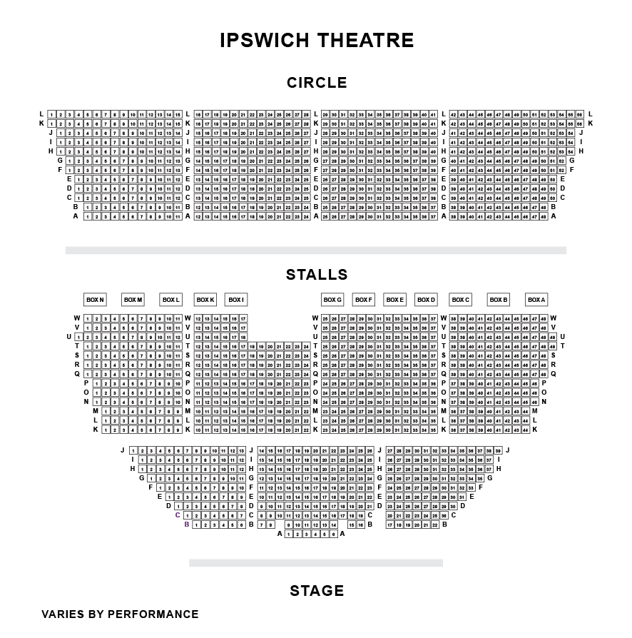 Ipswich Regent Theatre Seating Plan
