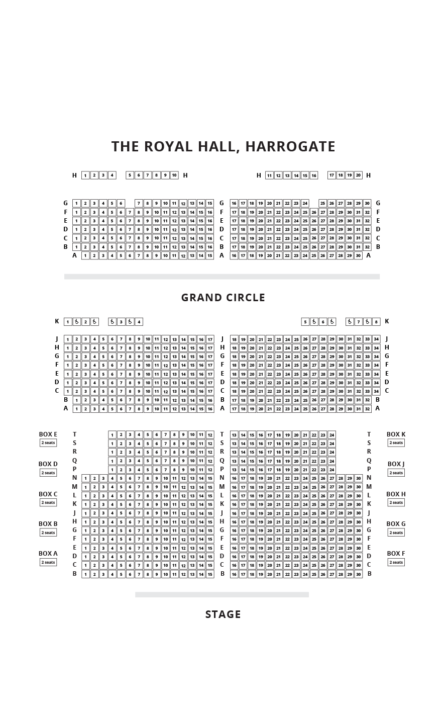 The Royal Hall, Harrogate Seating Plan