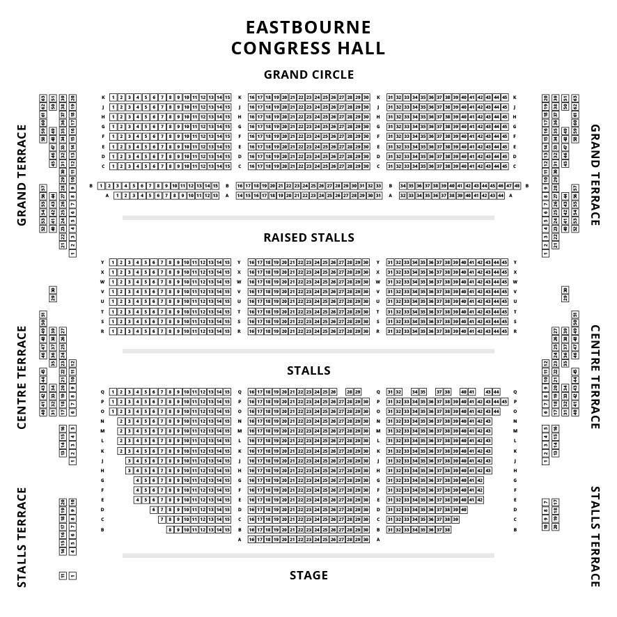 Congress Theatre Seating Plan