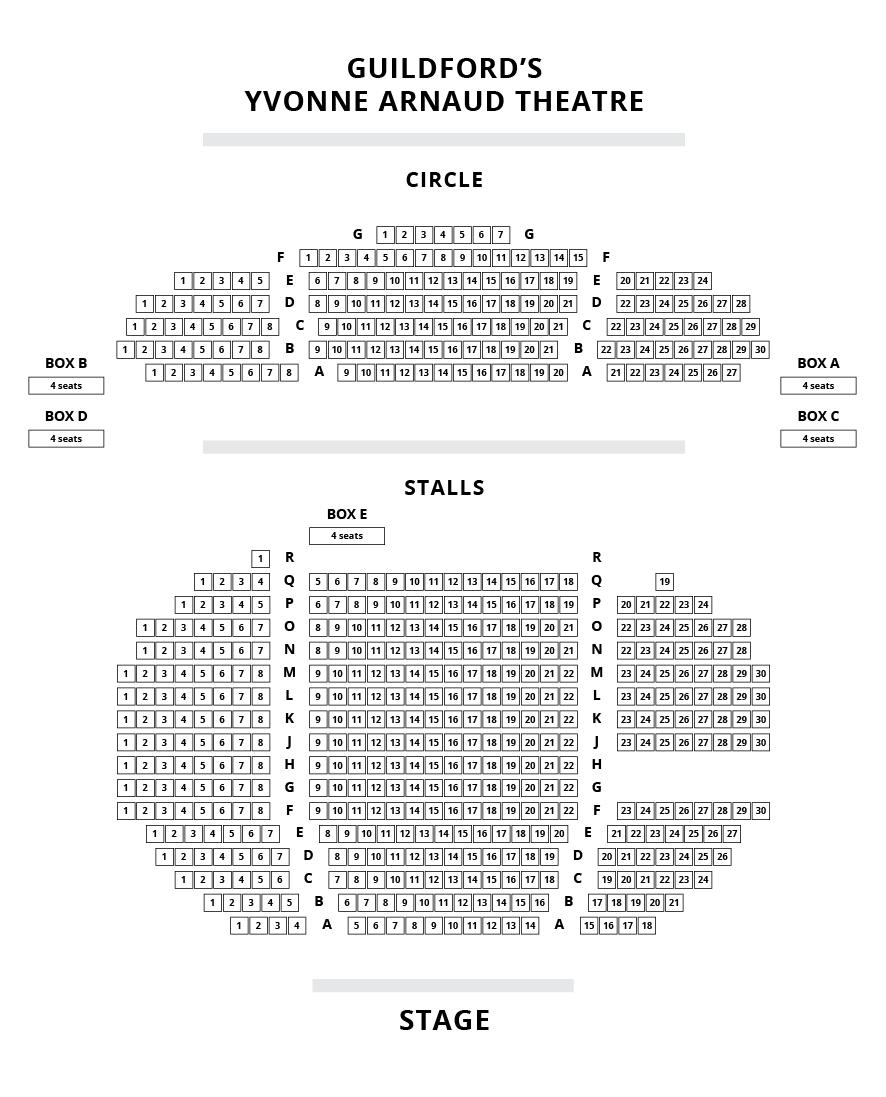 Yvonne Arnaud Theatre Seating Plan