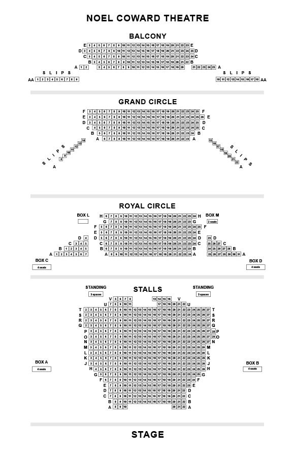 Noel Coward Seating Plan